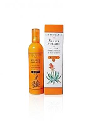 Elisir solare all'aloe barbadiensis e all'olivo spf 6