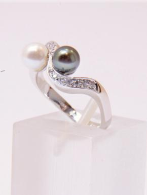 "Anello ""Black & White"""