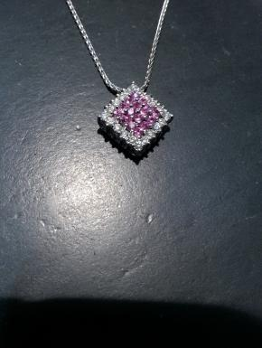 pendant with pink sapphires and diamonds