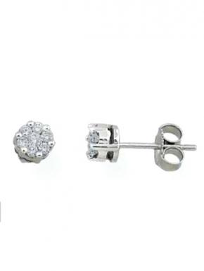 White gold earrings multibrillante brands