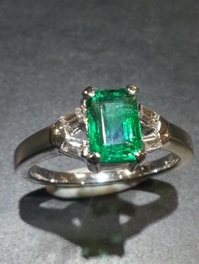 baguettes and emerald ring
