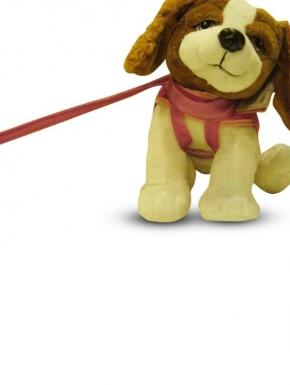 Plush with sound leash