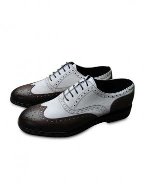 Shoe model Borsalino white brown