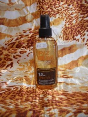 transparent sun protection spray 15