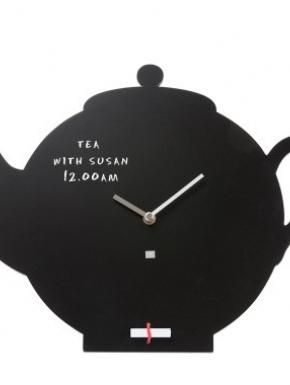 Clock-Blackboard Teapot