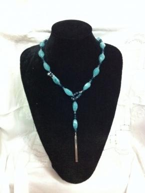 scarf necklace quartz