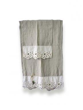La Fabbrica del lino set asciugamano in lino 100% Asciugamani