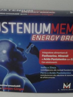 SUSTENIUM MEMO energy break 12 buste orosolubili