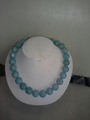 amazonite faceted round neck