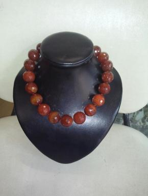 choker necklace faceted carnelian