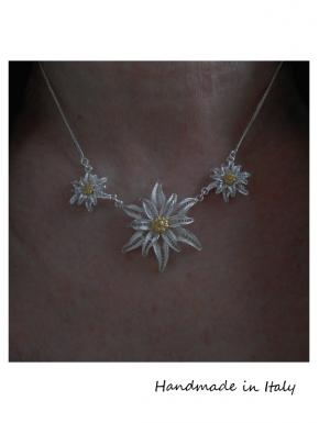 Edelweiss - Collana in filigrana d'argento