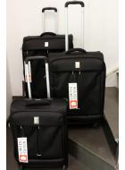 Valigeria Delsey Flight set 3 trolley nero