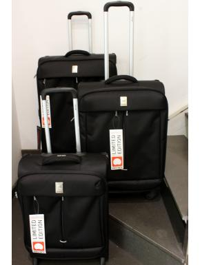 Delsey Flight Set Valigeria composto da 3 Trolley colore nero