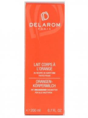 delarom lait corps a l orange 200ml